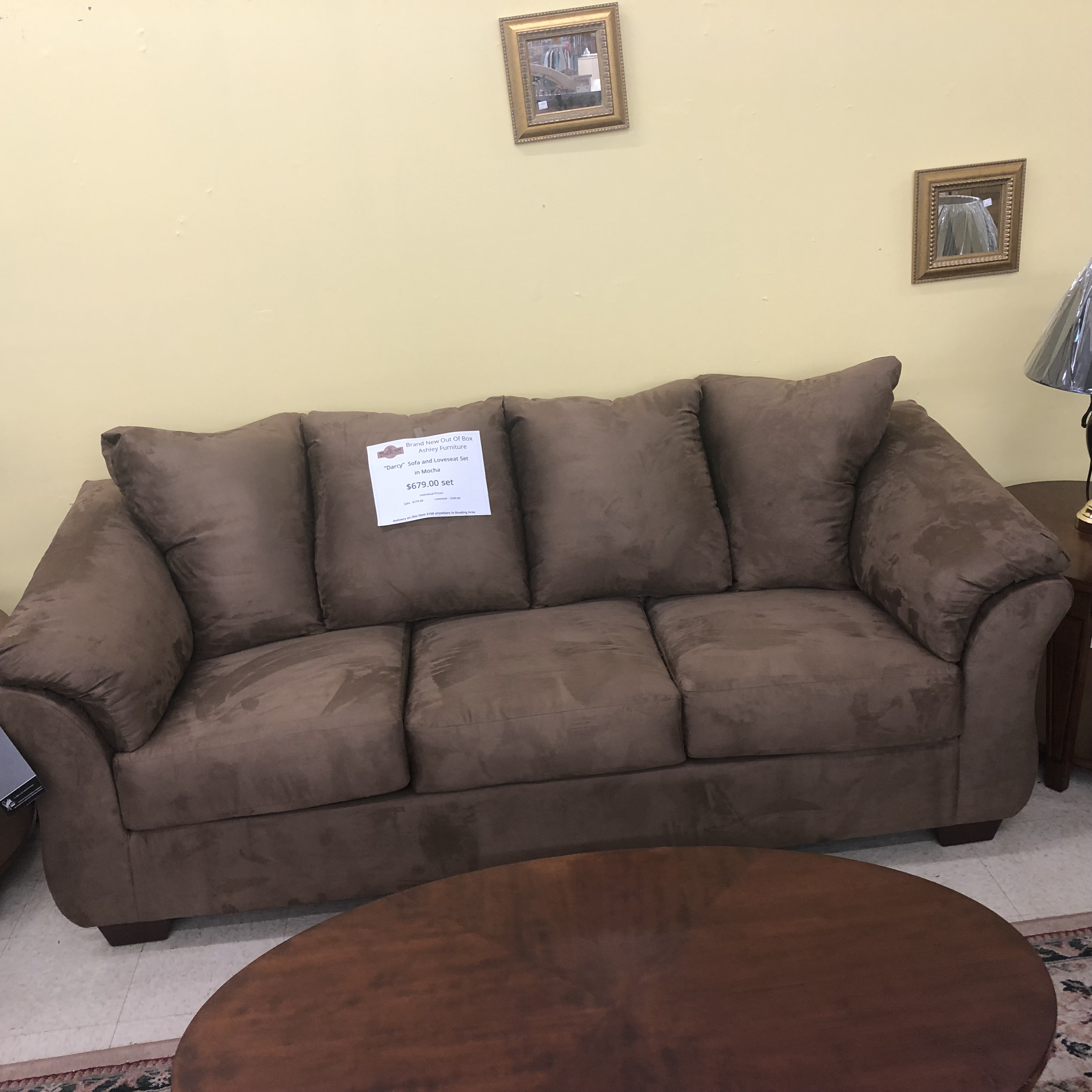 Living Room: BRAND NEW! Ashley Darcy Sofa and Loveseat Set ...