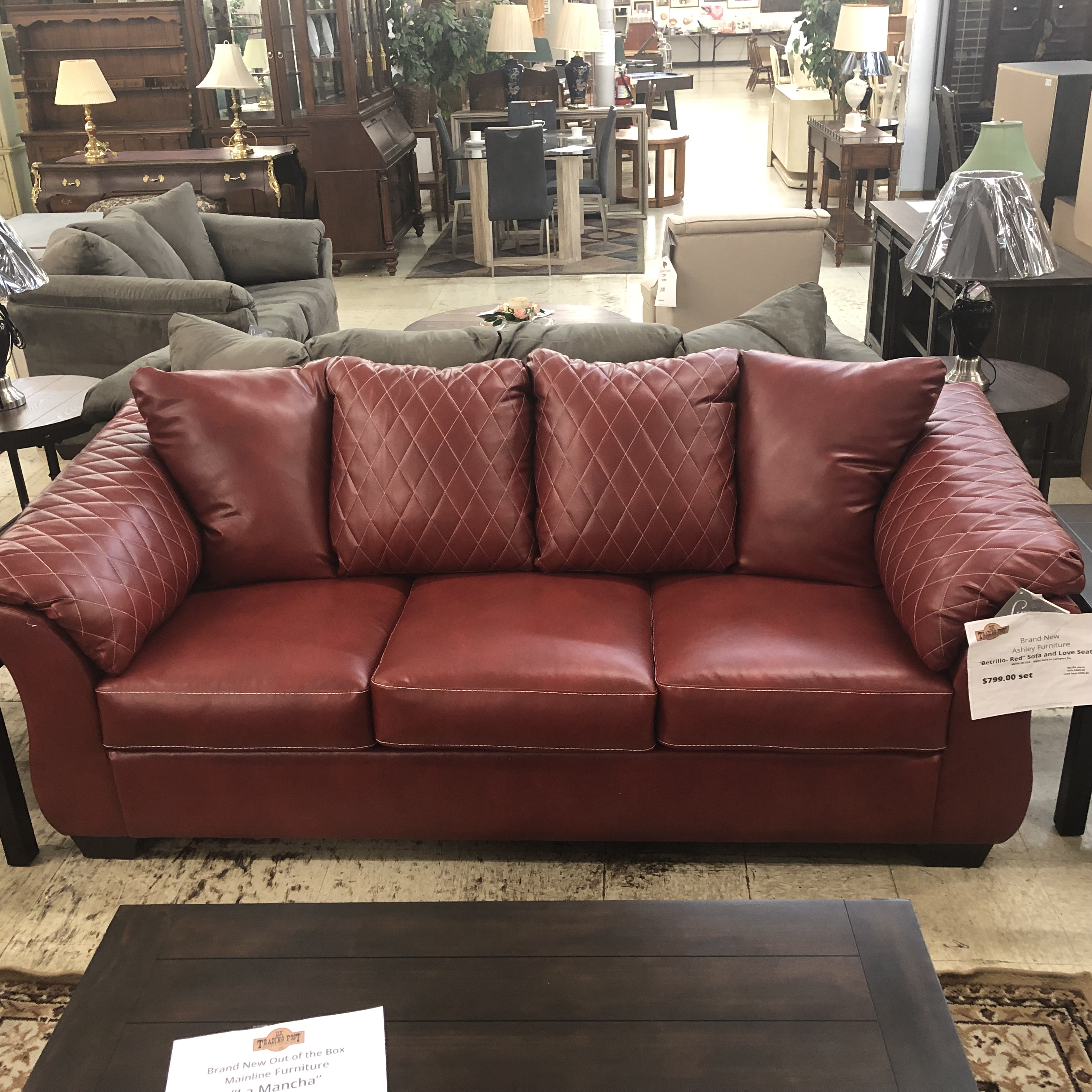 Living Room: BRAND NEW! Ashley Betrillo-Red Sofa and ...